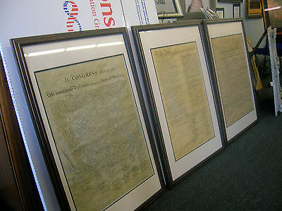 Framed (wood) Constitution,Bill of Rights & Declaration of Independence Set of 3