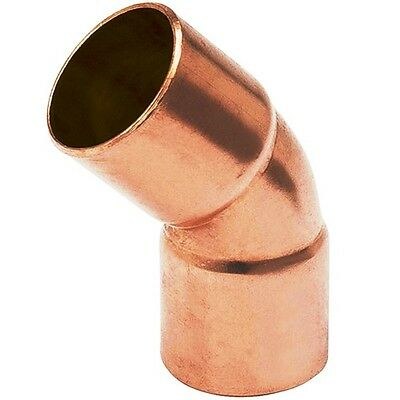 "(Bag of 25) 3/4"" Plumbing Copper Fitting Sweat 45 Degree Elbow CxC"