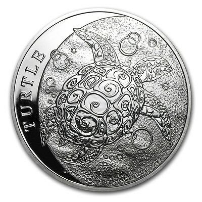 NIUE 5 Dollars Argent 2 Onces Tortue 2015 - 2 Oz silver coin Turtle