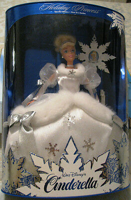 BARBIE WALT DISNEY'S CINDERELLA 1996 HOLIDAY PRINCESS #16090 NIB 1st IN SERIES