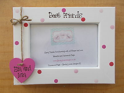 Personalised Wooden Best Friends Friedship Photo Frame Gift QUICK POSTAGE