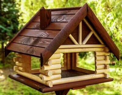 Exclusive Large Wooden Bird Table  House Bird Feeder & Nesting House