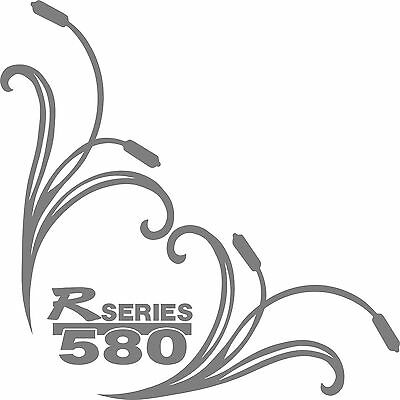 Scania  R series 580 truck cab side window stickers (pair)