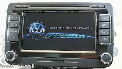 Vw Rns 510 Sat Nav Dvd Mp3 Sd Unit 1T0035680C 2017 V14 Maps Genuine Rns510 Lcd