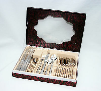 High Quality 24pc Stainless Steel Cutlery Set in Alum Case Gift Box Dinning 064C