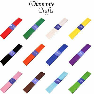 Crepe Paper 3 metre x 0.5 metre Colourfast Acid Free - Choose Quantity & Colours