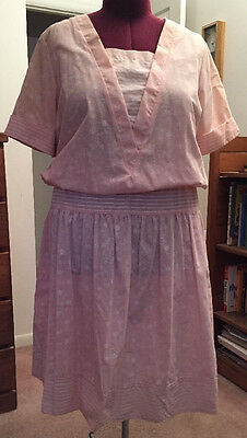 Whispers of California 22W 50/50 polyester/cotton peach spring dress