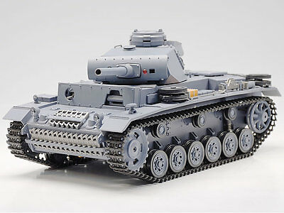 New 1:16 Remote Control Panzer III Airsoft Tank Smoking BB RC Tank