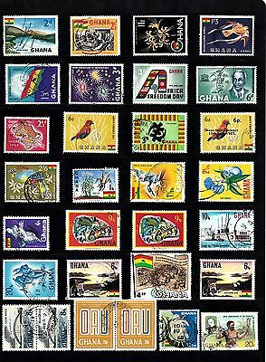 GHANA STAMP Collection QEII USED REF:QB596
