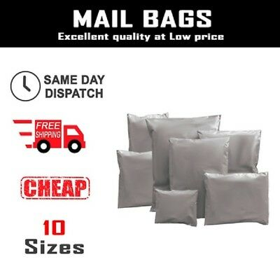 Grey Mailing Parcel Postage Bags Plastic Post Poly Self Seal Mail *IN ALL SIZES*