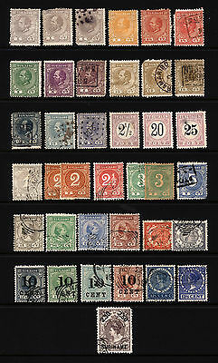 Suriname 1c-30c 1873-1908 Mostly Used Lot 38 items