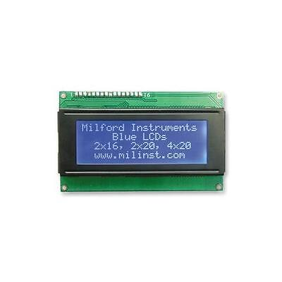 Milford Instruments - 6D180 - Lcd, 4X20 Parallel Interface Blue