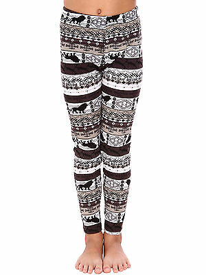 Little Girls Lion Printed Skinny Leggings Casual Kid's Stretchy Pants Trousers