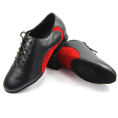 Men's Latin dance shoes Soft bottom shoes Genuine leather Ballroom Modern shoes