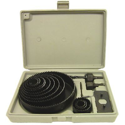 16pc Circle Hole Saw Round Cutter Drill Kit with Arbor and Storage Case IRE