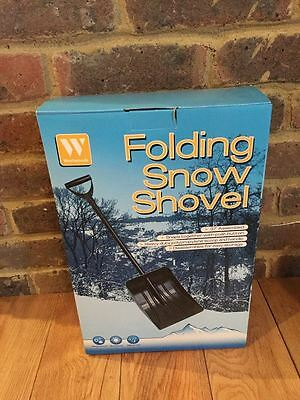 Snow Shovel that will Fold Away- Great for Keeping Car Boot