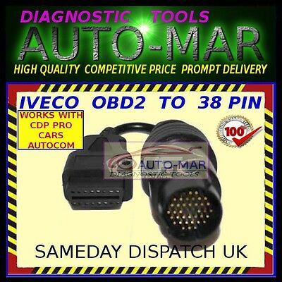 IVECO TRUCK DIAGNOSTIC cable 30 PIN connector AUTOCOM