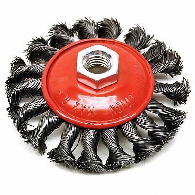 Twist Knot Wire Brush / Wheel for 115mm Angle Grinder TE242