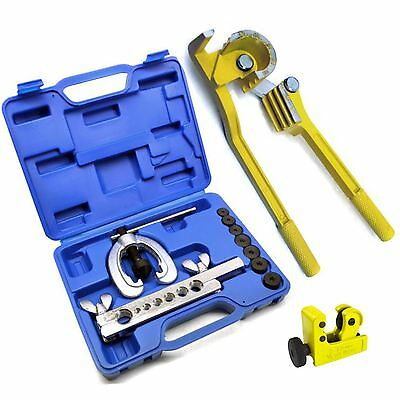 Brake Fuel Pipe Tube Repair Set Metric Flaring Kit Mini Bender & Tube Cutter
