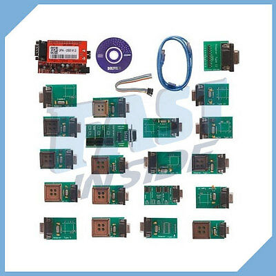 KIT PROGRAMMATORE EPROM USB NEW UPA v1.3 FULL SET ADATTATORI ECU versione 2014