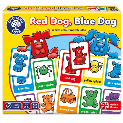 Orchard Toys Red Dog Blue Dog Lotto Game Colour Match Jigsaw Baby Toddler Child