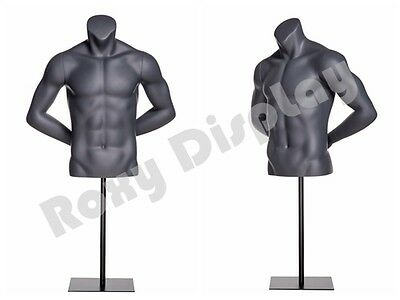 Fiberglass Male Mannequin Dress Form Display Torso Half Body Clothing #MZ-NI-7
