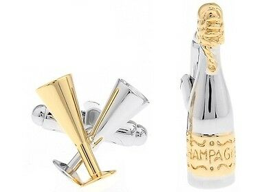Cufflinks Champagne And Wine Glass Unique funny Cufflinks for mens Shirts Gifts