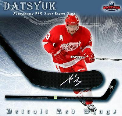 PAVEL DATSYUK Signed PRO STOCK Reebok RIBCOR Composite Stick - Detroit Red Wings