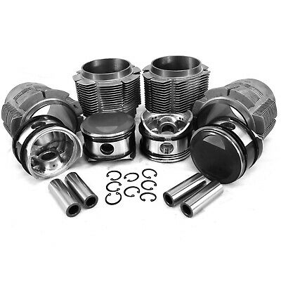 86mm Porsche 356C/912 Big Bore Piston & Cast Cylinder Kit