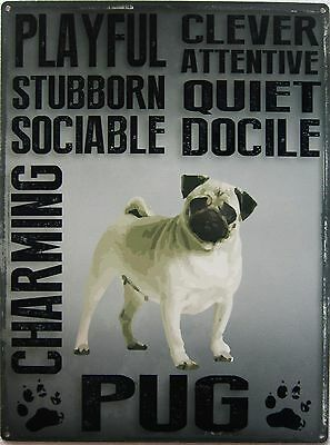 Pug Pet Metal Sign