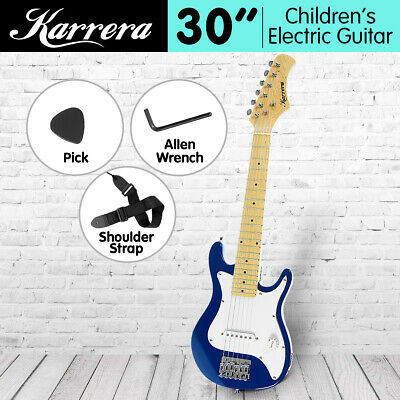 New Kids Karrera Electric Guitar and Ideal Childrens Gift Junior - Blue