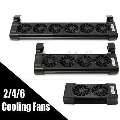 New Cooling 2/4/6 Fans Fan Aquarium Marine Tropical Chillers Fish Tank Low Noise