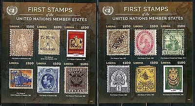Liberia  2016 First Stamps Of The United Nations Member States Set Of 8   Sheets