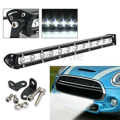 13Inch 36W White 12LED Spot Beam Combo Lamp Driving Offroad Work Light Bar