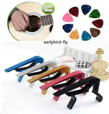 Spring Metal Trigger Guitar Big Capo For Electric/Acoustic Guitars+Free 1 Pick
