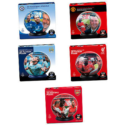 240pc 3D Football Jigsaw Puzzle Arsenal Chelsea Liverpool Manchester United City