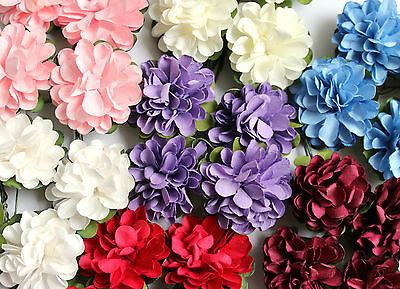 4 Large 40mm Paper Dahlia Flowers For Card Making & Wedding Crafts Choice Colour