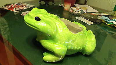 Large Apple Green Frog Lawn / Garden Ornament Planter