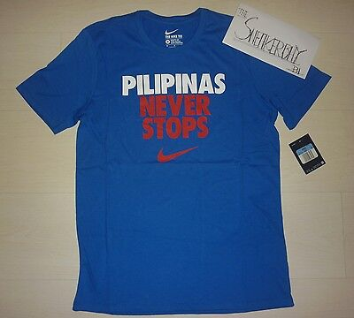 Nike Pilipinas Never Stops Shirt Blue Gilas Pilipinas Pacquiao Philippines New L