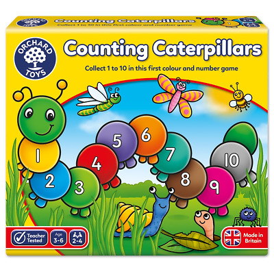 Orchard Toys Counting Caterpillars Game Educational Preschool Learning Fun Board