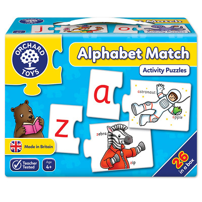Alphabet Match Orchard Toys Educational Games Letters Learn Complete Toy Young
