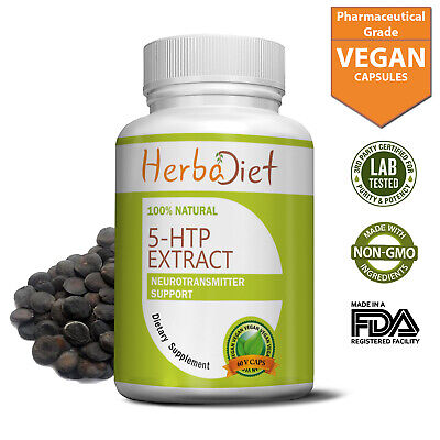 5-HTP 100mg 5htp Capsules Boosts Serotonin Helps Against Stress Anxiety Insomnia