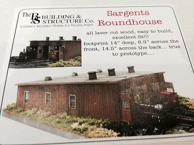 CSM S SCALE SARGENTS ROUNDHOUSE   LASER KIT FORMERLY BANTA MODELWORKS Sn3