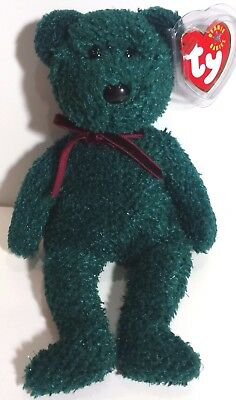 """TY Beanie Babies """"2001 HOLIDAY TEDDY"""" Christmas Bear - MWMTs RETIRED! GREAT GIFT"""