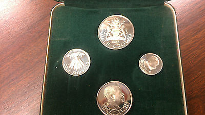 Malawi 1964 First Coinage Issue, Independence Set of 4 Coins, Proof - Beautiful