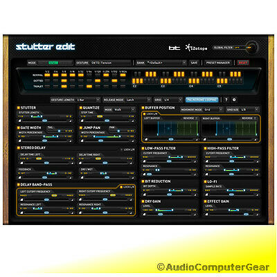 iZotope STUTTER EDIT + Mobius Filter free! Audio Software DJ Effects Plug-in NEW