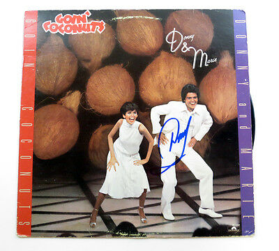 Donny Osmond Signed Album Donny & Marie Goin' Coconuts w/ AUTO