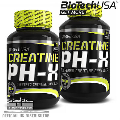 Biotech USA Creatine PH-X CREATINE 90 210 Capsules Buffered Creatine Capsules