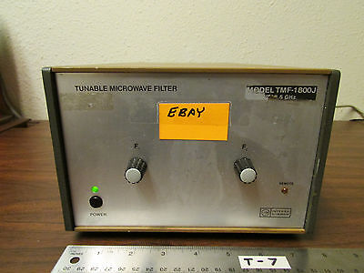 Integra Microwave TMS-1800-J Tunable Microwave Filter System