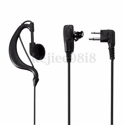 Security G-Shape Headset/Earpiece Mic For Motorola Radio Walkie Talkie 2 Pin New